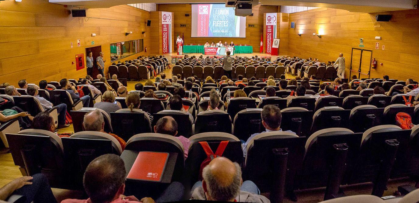 IFEJA ha acogido el Congreso Constituyente de la Federación de Empleados de los Servicios Públicos d