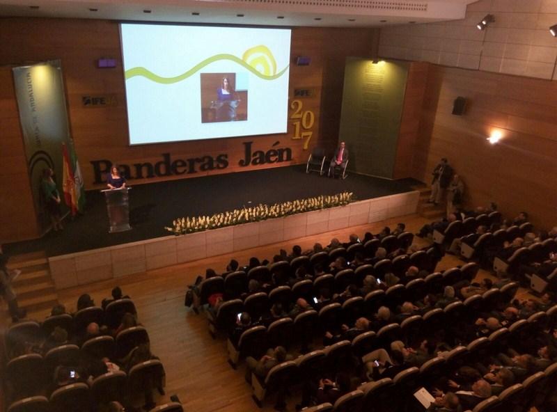 Las Banderas de Andalucía en la provincia se han entregado hoy en un acto celebrado en el Palacio de