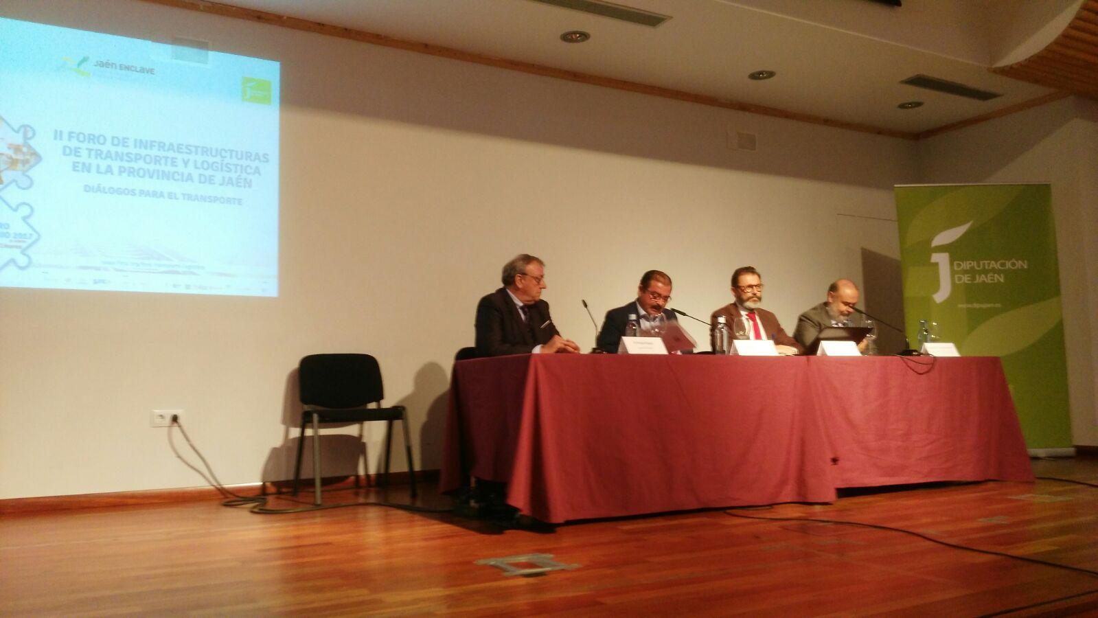 Clausura del II Foro de Infraestructuras de Transporte y Logística en la Provincia de Jaén, celebrad