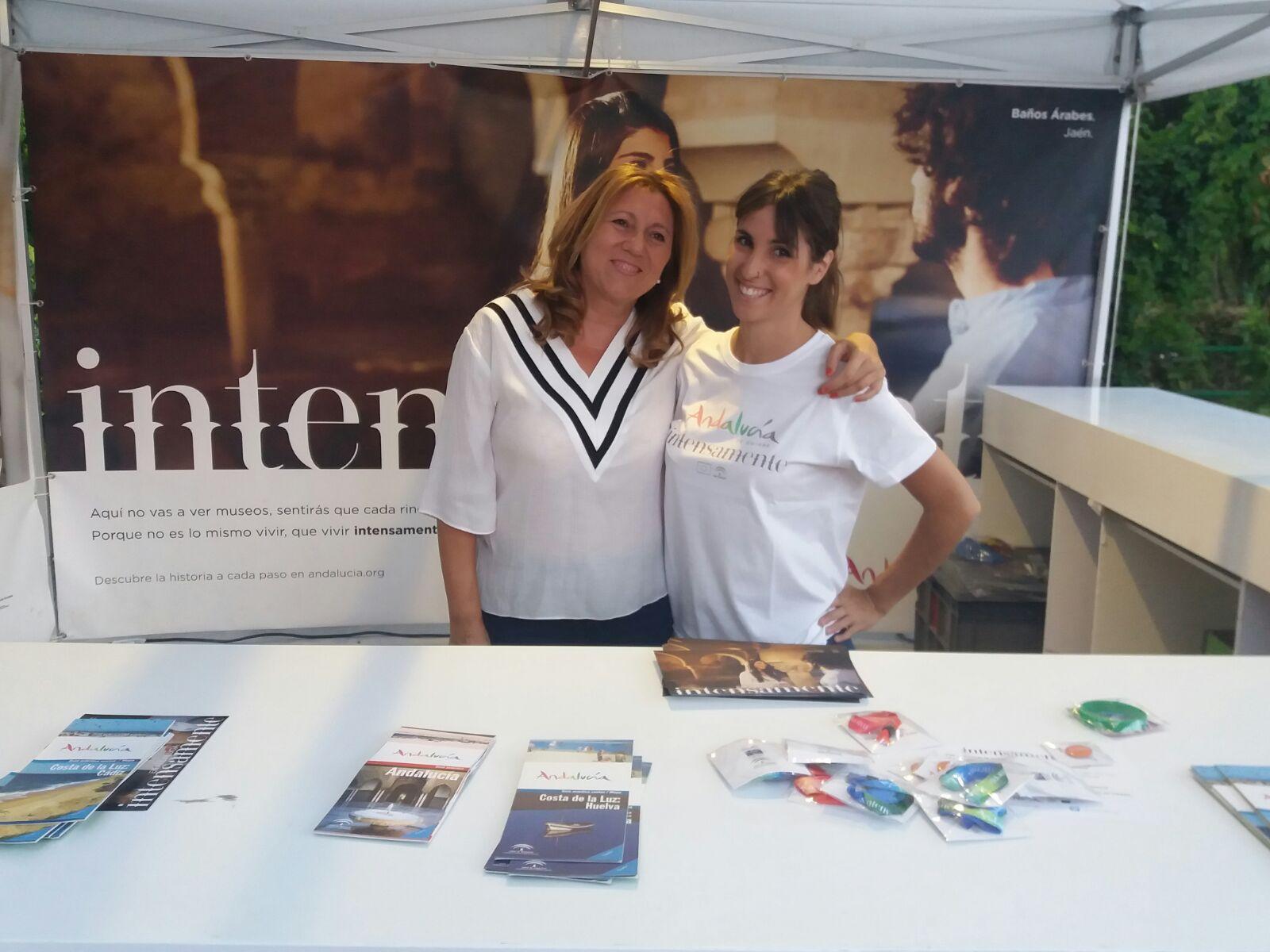 """Pilar Salazar presenta la acción """"Intensamente en Andalucía"""", dirigida a captar turistas del mercado"""