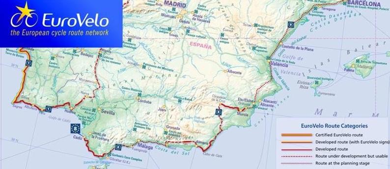"""El próximo viernes, en IFEJA, Taller Regional """"Las Rutas Eurovelo en Andalucía"""""""