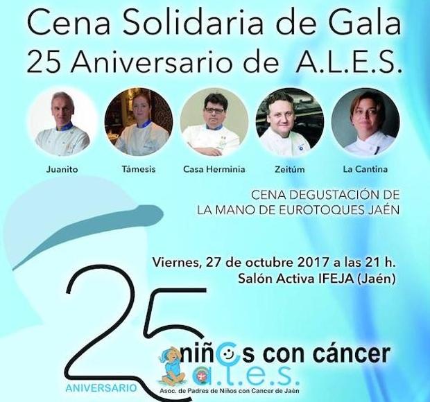 A.L.E.S. conmemora su 25 Aniversario con una Cena Gala Solidaria en IFEJA