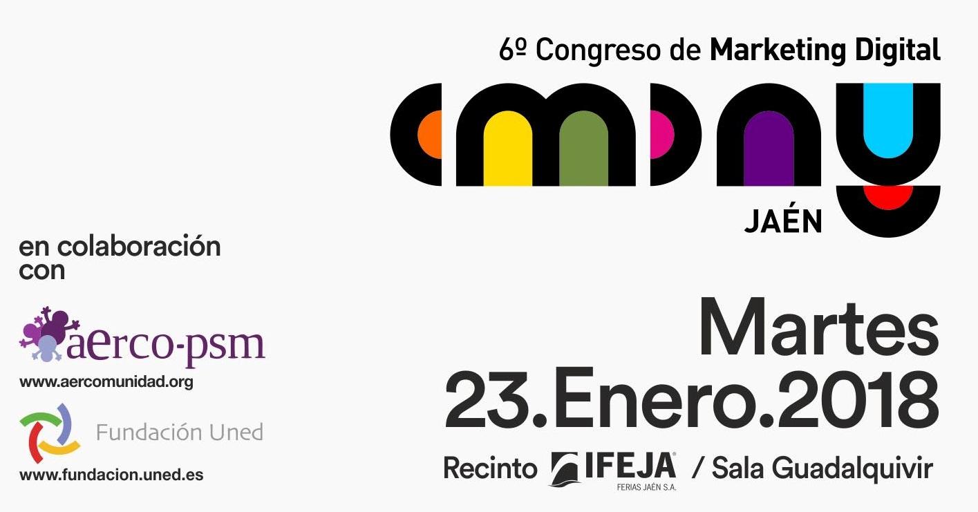 El 6º Congreso #CMDAY Jaén que el próximo martes, convertirá a IFEJA en epicentro del marketing digi