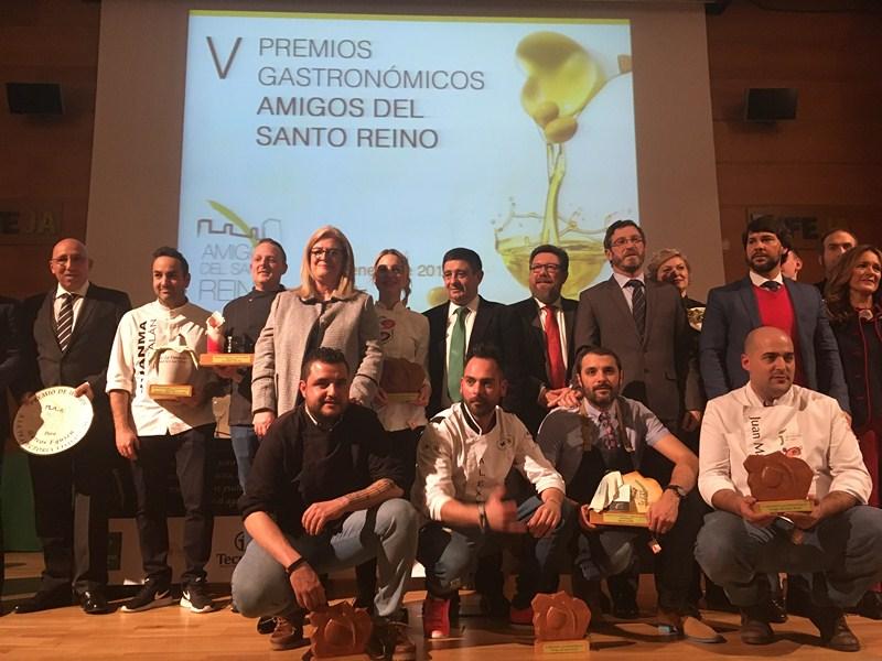 La Asociación Amigos del Santo Reino premia a restaurantes y cocineros jiennenses en la quinta edici