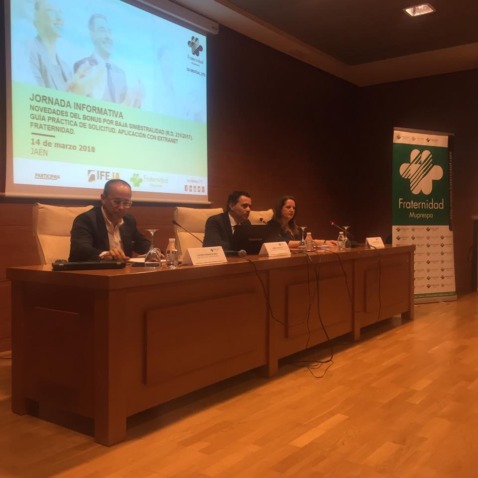 IFEJA y Fraternidad-Muprespa en Jaén colaboran en una jornada sobre el nuevo Bonus
