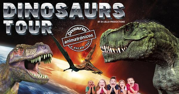 Dinosaurs Tour, la mayor exposición de dinosaurios animatrónicos, llega a IFEJA del 28 de abril al 6
