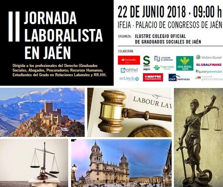 La II Jornada Laboralista en Jaén se celebra el próximo 22 de junio en el Palacio de Congresos de Ja