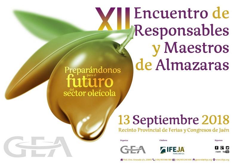 El XII Encuentro de Maestros y Responsables de Almazara de GEA tendrá lugar el 13 de septiembre en J