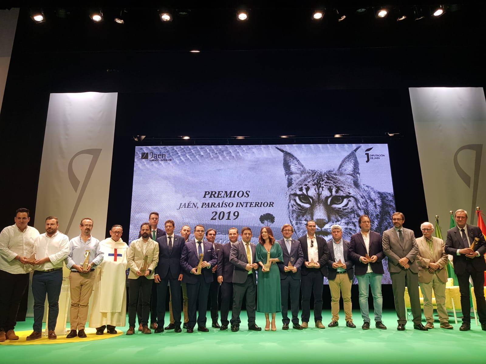 La Diputación de Jaén concede los Premios Jaén Paraíso Interior 2019 a organismos e instituciones, q