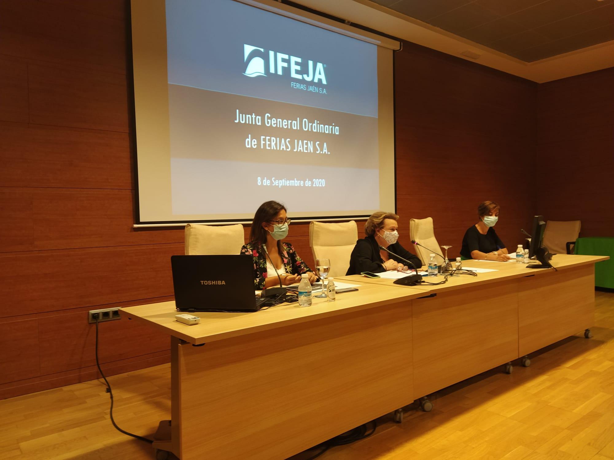 La Junta General de Accionistas de Ferias Jaén celebrada hoy en IFEJA ha aprobado las cuentas anuale