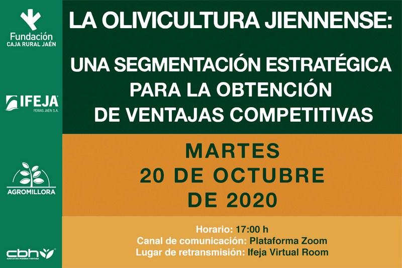 Nueva Webinar semipresencial que abordará en IFEJA la importancia de la olivicultura jiennense el pr