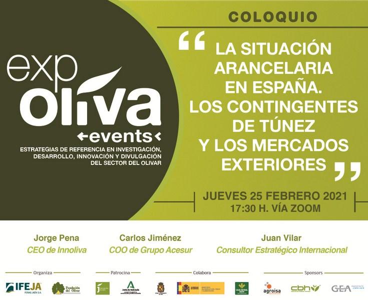 Un coloquio en el marco de Expoliva Events debatirá sobre la situación arancelaria en España el próx