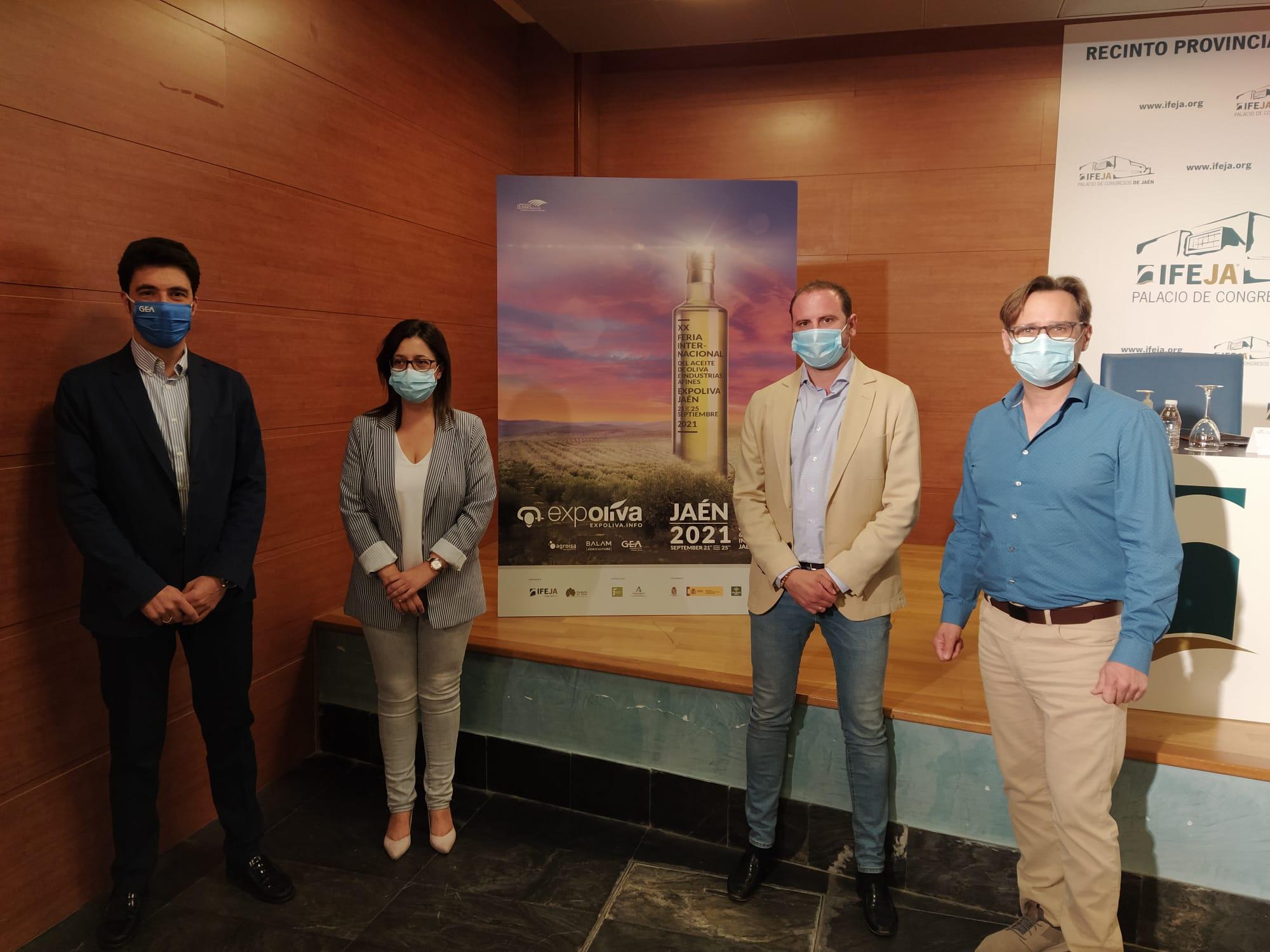 Expoliva vincula su imagen de marca con tres empresas referentes del sector oleícola en el ámbito in