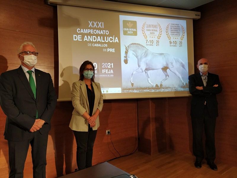 Hoy se ha presentado el XXXI Campeonato de Andalucía de Caballos de PRE, que se celebrará en IFEJA d